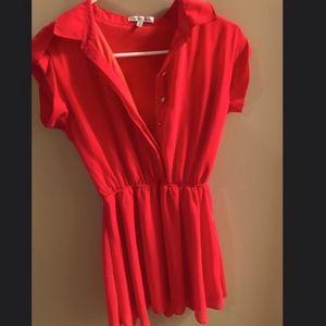 Coral summer dress